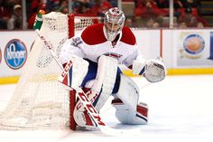 DETROIT, MI - JANUARY 16: Carey Price #31 of the Montreal Canadiens watches the puck while playing the Detroit Red Wings at Joe Louis Arena on January 16, 2016 in Detroit, Michigan. Detroit won the game 1-0. (Photo by Gregory Shamus/Getty Images)