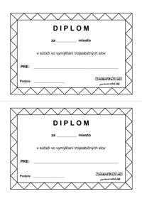 Slabiky - pracovný list - súťaž - diplom