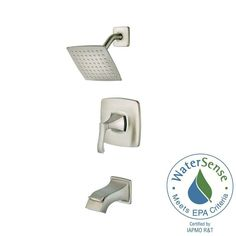Pfister Venturi Single-Handle 1-Spray Tub and Shower Faucet in Spot Defense Brushed Nickel (Valve Included)