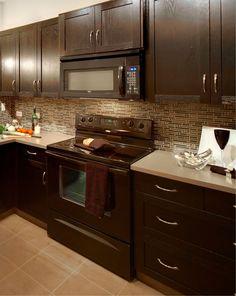 Kitchen black appliances on pinterest black appliances hickory cabinets and appliances - Modern kitchen with black appliances ...