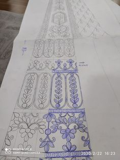 Couture Embroidery, Hand Embroidery, Embroidery Designs, Neck Design, My Design, Ganesha, Diy And Crafts, Textiles, Patterns