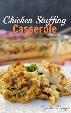 Toss this chicken stuffing casserole in the oven for a quick and easy meal any night of the week.