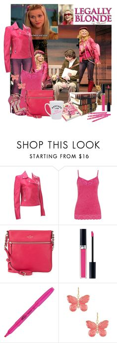 """Elle Woods of Legally Blonde 5/50"" by domino-80 ❤ liked on Polyvore featuring Versace, maurices, Kate Spade, Christian Dior and Kenneth Jay Lane"