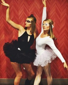 White swan and black swan costumes!