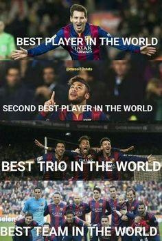 Najlepszy piłkarz świata, najlepszy drugi piłkarz na świecie, najlepsze trio na świecie • FC Barcelona najlepszą drużyną na świecie >> #barcelona #barca #fcbarcelona #football #soccer #sports #pilkanozna