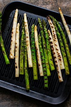 NYT Cooking: Although steamed asparagus has an unmatched purity of taste, I love the earthy, charred flavor added by the grill, a flavor that can also be achieved with stove-top pan grilling, which combines high heat and a dry, heavy skillet.
