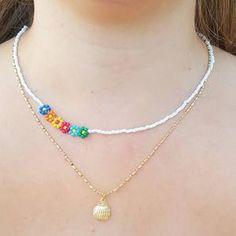 Seed Bead Jewelry, Bead Jewellery, Cute Jewelry, Jewelry Crafts, Jewelry Findings, Diy Beaded Rings, Beaded Bracelets, Beaded Choker Necklace, Pulseras Kandi
