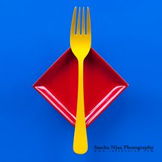 Mini Ketchup Plate and Mustard Fork