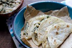 Vegan Rajas con Crema Tacos