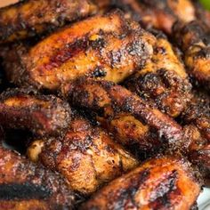 Jerk Chicken Wings – Classic Jamaican Super Bowl Food – My All Pin Page Grilled Chicken Wings, Grilled Chicken Recipes, Chicken Wing Recipes, Grilled Meat, Jamaican Dishes, Jamaican Recipes, Jerk Recipe, Recipe Box, Grilling Recipes