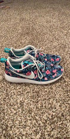 purchase cheap ca968 b1d7c Unisex Adult Shoes · Nike Roshe Run One Print Floral Aloha Hawaii Premium  Teal Te  fashion  clothing