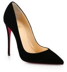 Christian Louboutin So Kate 120 Suede Pumps on shopstyle.com