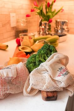 Mesh produce bags to replace plastic produce bags. Genius. #mylifewithoutplastic