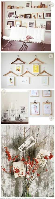 Creative photo display ideas.