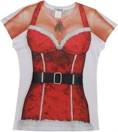 Sexy Mrs Claus Christmas Costume T-Shirt.