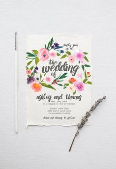 Watercolor Boho Wedd
