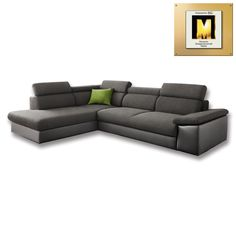 Eck-Garnitur MANELLA, braun, 204x266 cm