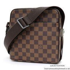 7187947e9f Louis Vuitton N41442 Olav PM Messenger Bag Damier Ebene Canvas