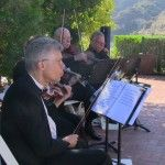 Mallette String Quartet performs for a wedding at the fabulous Castaway Restaurant in Southern California
