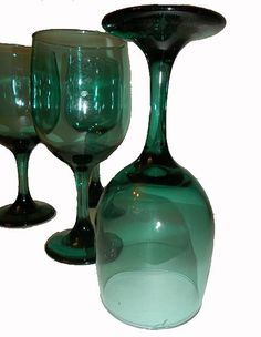 Emerald Water Goblets