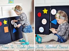 How to make your own felt board + free printable alphabets & numbers