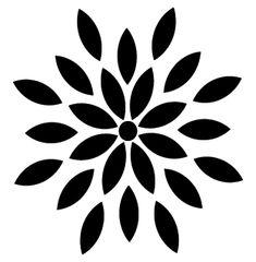 Silhouette Design, Flower Silhouette, Silhouette Cameo, Stencil Templates, Stencil Designs, Printable Stencil Patterns, Embroidery Designs, Hand Embroidery, Stencil Art