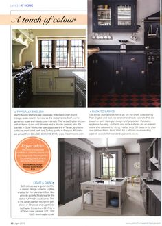 Martin Moore's English kitchen, perfect for country houses martinmoore.com Period Homes & Interiors April 2015