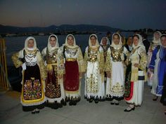 TRADITIONAL COSTUMES-AVLONAS ATTICA-traditional festival young women's costumes. all rights reserved