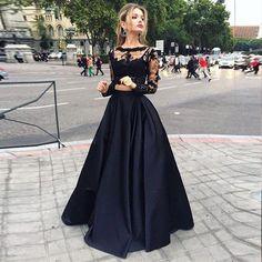 Black Party Maxi Skirts Graceful A Line High Waist Floor Length Skirts Cheaper…