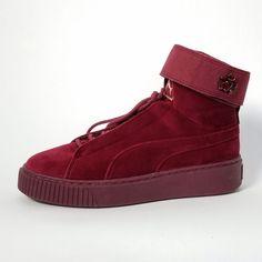 3002b56ebe02 PUMA Women s Platform Mid Velour WNS Sneaker - Women s 8