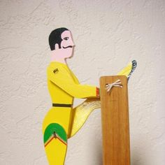 Flying Acrobat  Wooden Folk Toy. $25.00, via Etsy.