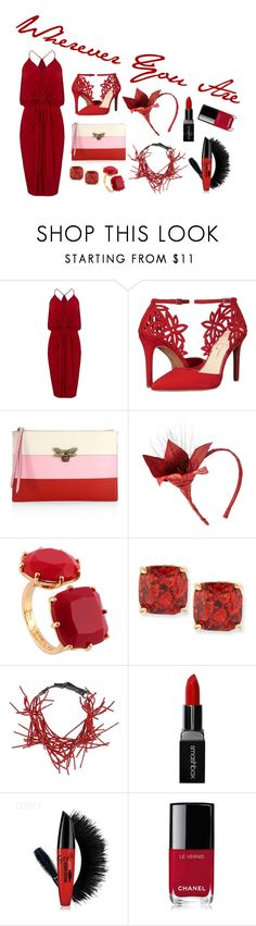 """Wherever You Are"" by kathrina1yana2jemma3cloe4 ❤ liked on Polyvore featuring MISA Los Angeles, Jessica Simpson, Gucci, Eugenia Kim, Les Néréides, Kate Spade, Brunello Cucinelli, Smashbox and Chanel"