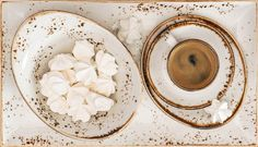 Black coffee with meringue cookies by LiliGraphie on Creative Market