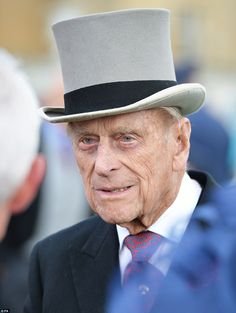 Prince Philip Photos - Prince Philip, Duke of Edinburgh greets guests attending a garden party at Buckingham Palace on May 2016 in London, England. - Elevated View Of The Queen's Garden Party