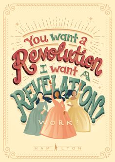 Artist/Hamilton fan Risa Rodil has created a gorgeous collection of posters featuring lyrics from the musical. You can purchase them as prints, t-shirts, home décor and more. Hamilton Fanart, Hamilton Quotes, Hamilton Poster, Funny Hamilton, Hamilton Musical, Hamilton Broadway, Comedia Musical, Hamilton Lin Manuel, And Peggy