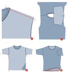 sew a t shirt free instructions
