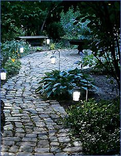 55 Ideas For Front Patio Landscaping Solar Lights Modern Landscape Lighting, Landscape Design, Path Lights, Solar Lights, Outdoor Walkway, Patio, Front Walkway, Modern Landscaping, Backyard Landscaping