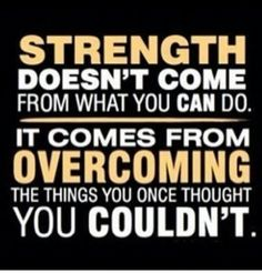 Seeing so much progress in the gym lately from overcoming my injuries. Love this quote!