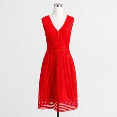 Jcrew Striped Eyelet Dress - Brand New