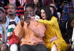 Pin for Later: Kendall Jenner Bonds With Brother-in-Law Kanye West at a Fashion Show