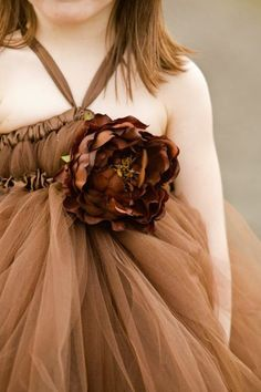 Chocolate Brown Tutu Dress