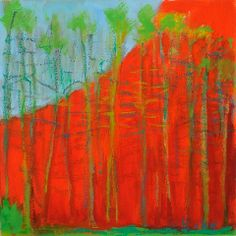 artnet Galleries: Small Red Painting by Wolf Kahn from Addison/Ripley Fine Art