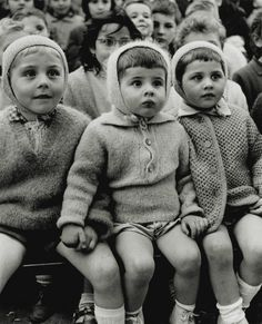 Children at a puppet Theatre  watching St. George and the Dragon story; photo by Alfred Eisenstaedt, Tuileries, Paris, 1963