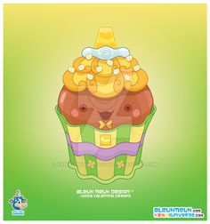 Kawaii Milk Chocolate Cupcake by KawaiiUniverseStudio.deviantart.com on @DeviantArt