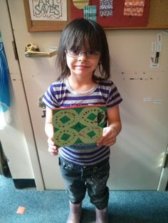 Showing off her Kirigami creation in the ADC.  We'll be making these through 3/30/2015.