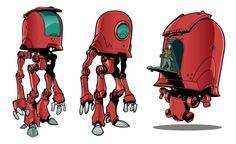 Blue Chevrons @N_G_M_Magazine #pimzond #robots #sci-fi Retro futurism space steampunk dieselpunk atompunk sci-fi science fiction pulp aliens music art design