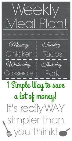 Weekly Meal Plan - A How-To Guide