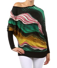 Take a look at this Farinelli Green Dolman Top on zulily today!