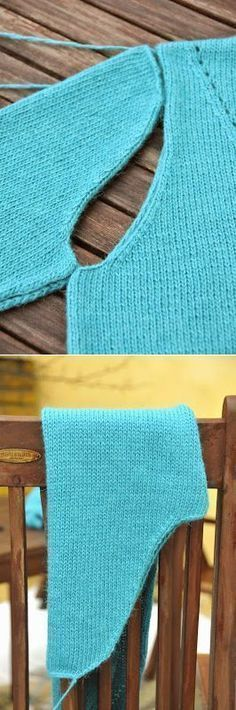 """Formation doused sleeves and armholes. // Тамара Владимирова """"formation doused sleeves and armholes"""", """"Discover thousands of images about Great techniqu Knitting Paterns, Knitting Stitches, Knitting Designs, Knitting Needles, Knit Patterns, Knitting Projects, Baby Knitting, Crochet Baby, Knit Crochet"""
