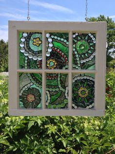 Green Stained Glass Window Mosaic - abstract Stained Glass Panel - green mosaic panel - Repurposed Window - recycled window green glass by NiagaraGlassMosaics on Etsy Modern Stained Glass, Stained Glass Panels, Stained Glass Art, Mosaic Projects, Stained Glass Projects, Mosaic Ideas, Mosaic Art, Mosaic Glass, Fused Glass
